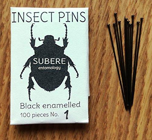 Subere Entomology Insekten-Befestigungsstifte, Größe 1, 100 Stück
