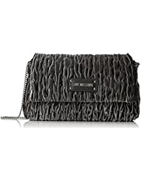 Love Moschino Borsa Fabric Grigio, Sacs bandoulière femme, Grau (Grey), 17x28x5 cm (B x H T)