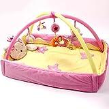 Gazechimp Krabbeldecke Spielbögen Spieldecke Erlebnisdecke Baby Bettdecke Babybett Musik Aktivitätsmatte, Spielzeug Für Baby - Rosa Prinzessin Plus, 110*110*50