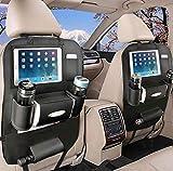 Rückenlehnenschutz Auto, Autositzschoner Rückenlehne Kinder, Auto Organizer rücksitz kinder mit10'' iPad-Tablet-Halter (1 Pack)