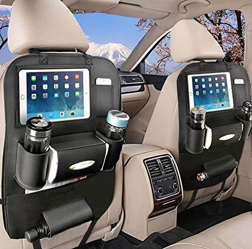 Rückenlehnenschutz Auto, Autositzschoner Rückenlehne Kinder, Auto Organizer rücksitz kinder mit10\'\' iPad-Tablet-Halter (2 Pcs)