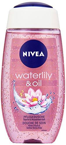 NIVEA Duschgel mit Pflegeöl-Perlen, Wasserlilien Duft, 250 ml Flasche, Waterlily & Oil