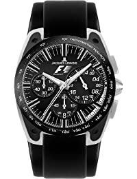 JACQUES LEMANS Formula 1 F-5033 Barcelona A - Reloj de caballero de cuarzo, correa de piel color negro (con cronógrafo)