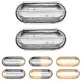 LED Blinkleuchte Blinker Seitenblinker dynamische Funktion Laufstreifen mit Zulassung White Vision
