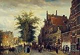 Het Atheneum Illustre Aan De Oudezijds Voorburgwal Te Amsterdam - By Cornelius Springer - Leinwanddrucke 28x19 Inch Unge