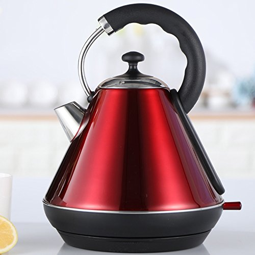 Kettle FEIFEI Electric Stainless Steel Red Double Anti-hot 1850W 1.8L Automatic Power Off Insulation Home  Travel Easy to move