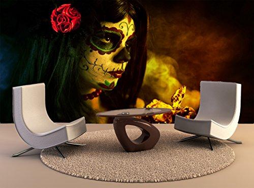 Wandteppiche künstlerische Schuß Sugar Skull Girl Dead Roses Wall Art Dekor Fototapete Poster Hochwertiger Druck