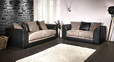 Colada Byron Sofa Range Black & Grey by Furniture Stop