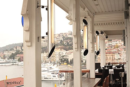 Blade S – Design Infrarot Heizstrahler mit 2500 Watt inklusive Fernbedienung , 4 Heizstufen, Timerfunktion, Carbonstrahler als Terrassenheizer bzw. Terrassenstrahler ideal geeignet. Infrarotstrahler für Indoor und Outdoor. - 2
