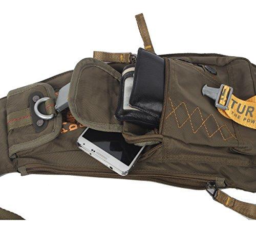 Innturt Bodybag-Rucksack, Nylon Large-Army Green