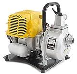 WASPPER PC107  Hochleistungs- & Tragbare Benzin Wasserpumpe mit 7500 l/h Förderleistung  35m Wasserhub  9000 U/min Benzinmotor und enthaltenem Zubehör …