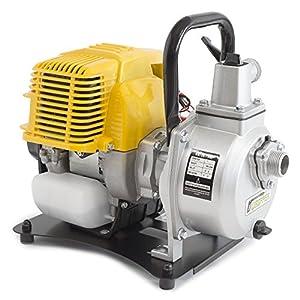 ✦ WASPPER PC107 ✦ Bomba de Agua Gasolina De Uso Rudo & Portable con Tasa de Flujo de 7500 l/hr ✦ Elevación de Agua de 35m ✦ 9000 RPM Motor de Petróleo y Accesorios incluidos