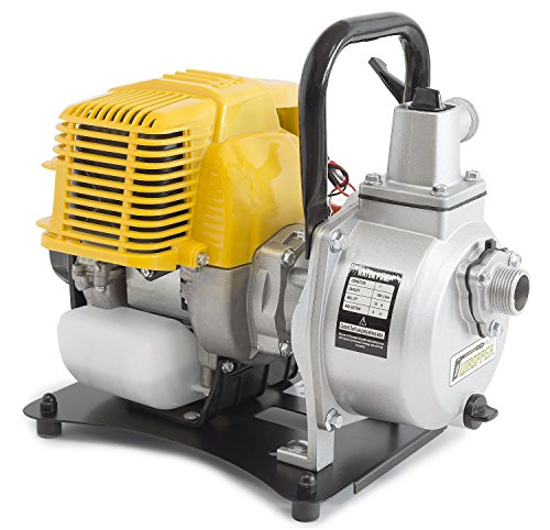 ✦ WASPPER PC107 ✦ Heavy-Duty & Portable Water Pump with 7500 l/hr Flow Rate, 35m Water Lift, 9000 RPM Petrol Engine and Included Accessories