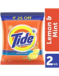 Tide Plus Extra Power Detergent Washing Powder - 2 kg (Lemon and Mint, Rupees 25 Off).