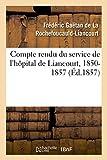 Telecharger Livres Compte rendu du service de l hopital de Liancourt 1850 1857 (PDF,EPUB,MOBI) gratuits en Francaise
