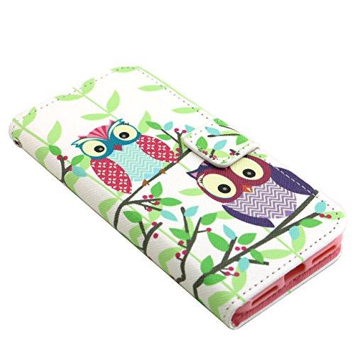 Voguecase® für Apple iPhone 7 4.7 hülle,(London Bus) Kunstleder Tasche PU Schutzhülle Tasche Leder Brieftasche Hülle Case Cover + Gratis Universal Eingabestift owl 05
