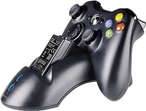 Speedlink Controller-Ladestation für XBOX 360 - Bridge Charging System USB (Geeignet für das Laden von zwei Controllern - gummierte Füße für sicheren Stand - bis zu 20 Stunden zusätzliche Spielzeit) schwarz
