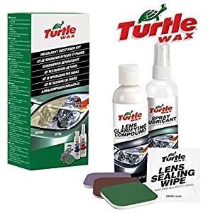 turtle wax kit de renovation optique et phare polish restoration fg6690. Black Bedroom Furniture Sets. Home Design Ideas