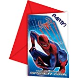 6 cartes d'invitation The Amazing Spiderman™...