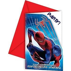6 cartes d'invitation The Amazing Spiderman™