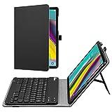 Fintie Funda con Teclado Samsung Galaxy Tab S5e 10.5 SM-T720/T725 2019, de Piel sintética, con función Atril, extraíble, Teclado inalámbrico Bluetooth *Schwarz