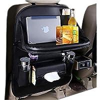 Flipco Car Seat Organizer, Car Organizer Back Seat Protector Kick Mats for Kids PU Leather Car Storage Organizer with…