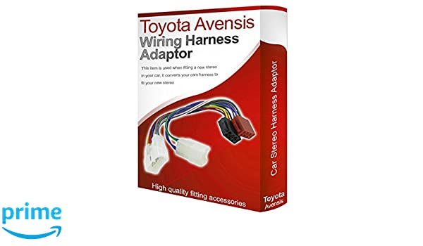 Toyota Avensis CD radio stereo wiring harness adapter lead loom ISO on