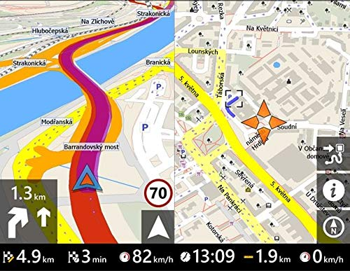 Elebest-City-70K-Navigationsgert-178cm-7-Zoll24-GB-SpeicherPKWLKWWohnmobilFunk-RckfahrkameraBluetoothFahrspurassistentNeuste-Karten-sowie-Radarwarner