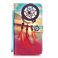 LG LS775 Case,LG LS775 Leather Case,LG LS775 Cover,Flip Wallet case for LG LS775,Dreamcatcher Flying Patterned PU Leather Lanyard Stand Function Protective Cases Covers with Card Slot Holder Wallet Book Design Fordable Magnet Closure Case for LG LS775