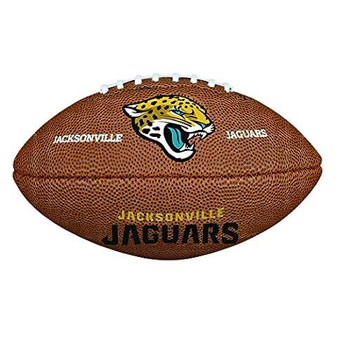 Wilson American Football, NFL Certified, Recreational Use, Mini Size, NFL TEAM LOGO JACKSONVILLE JAGUARS, Brown, WTF1533XBJX