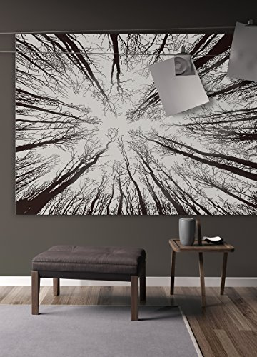Blumen Königin Tröster Set (Premium Qualität Bohemian Mandala Stoff Forest Stickset von Varano–HD no-fading Digital Printing–Klar Muster & lebendigen Farben, schwarz und weiß)