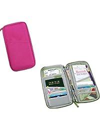 Fuerte impermeable de la carpeta de documentos de viaje y el titular del pasaporte. Elección de Colores Granate