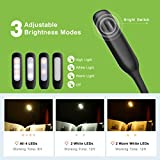 from TOPELEK Reading Light, TOPELEK 4 LED 3 Brightness Modes Clip On Book light USB Rechargeable Reading Lamp, Flexible Eye-care and Portable Music Stand Light for Night Reading in Bed Energy Class A+ Model GDGELE052AB-UKAA1
