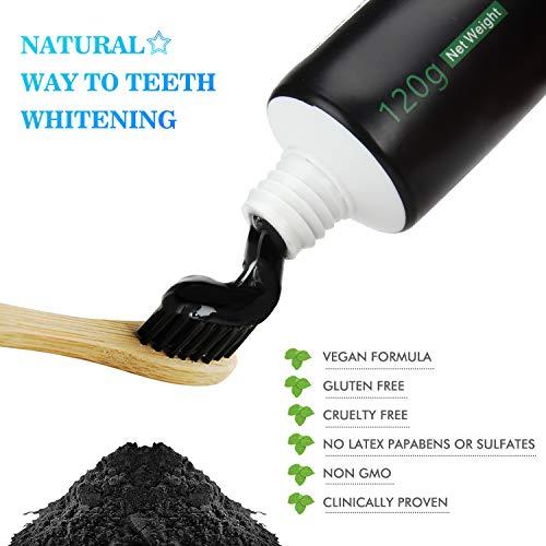 Zoom IMG-3 dentifricio carbone attivo sbiancante per