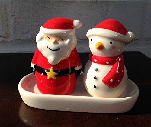 Natale Babbo Natale e pupazzo di neve-Set sale e pepe piccoli (Babbo Neve Natale)