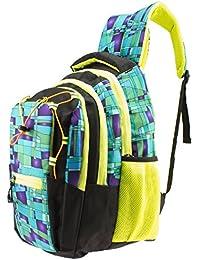 GLEAM Polyester Green-Multicolour School Bag