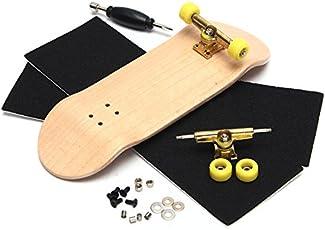 Forfar Finger Skateboard Creative Complete Wooden Fingerboard Finger Skate Board Grit Box Foam Tape Wood Colours