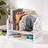 Multi-Layer-Desktop-Schreibwaren-Racks Business-Karte Stift Bleistift Handy-Veranstalter Kosmetik-Schmuck-Storage-Schutt Schreibtisch Lieferungen Finishing-Box Home Office Weiß