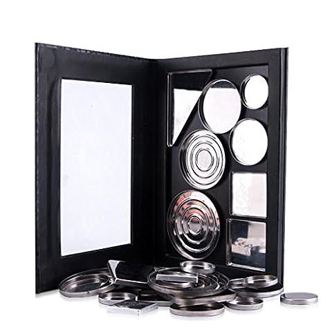 Eye shadow pallet kit Empty Magnetic shimmer cosmetic Makeup eyeshadow cream Palette Pad Pattern set DIY (Large,