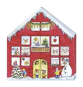 Mammut 162001 - Calendario de Adviento con 24 gnomos para Colgar con Correa, Set Completo, Figuras Listas para Colgar, Madera (MDF), Fieltro, Punto, Navidad, Multicolor