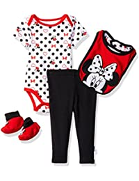 Disney Baby Girls Minnie Mouse 4-Piece Bodysuit