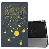 MoKo Hülle für All-New Amazon Fire HD 8 Tablet (7th & 8th Generation – 2017 & 2018 Modell) - Ultra Slim Lightweight Smart Cover mit Durchschaubar Rückseite Schutzhülle, Nachtlicht