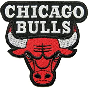 Écusson brodé Chicago bulls patches Embroidered Iron on Patch 8x8 cm