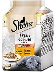 Sheba Fresh & Fine Katzenfutter Geflügel-Variation, 6 Beutel (6 x 50g)