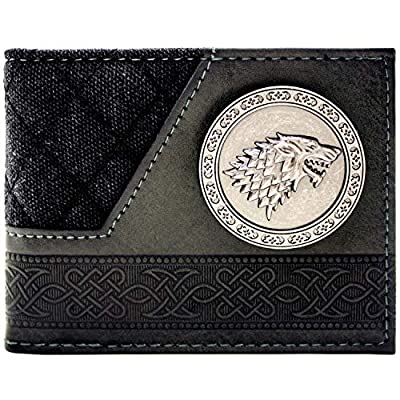 Game of Thrones House Stark Dire Wolf Black ID & Card Bi-Fold Wallet