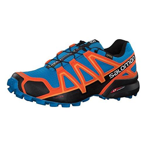 Salomon Herren Speedcross 4 GTX Trailrunning-Schuhe,Mehrfarbig (Hawaiian Surf/Black/Scarlet Ibis 000), 44 2/3 EU