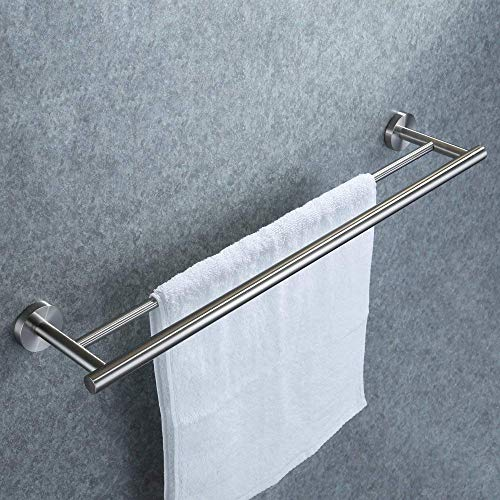 Doppelter Handtuchhalter, Dailyart Badezimmer Handtuchstange Bad Ohne