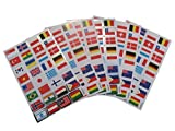 6 x sheets of Flags of the World Country Stickers for kids Girls boys, craft, scrap books, card making, gift party bags by Fat-catz-copy-catz