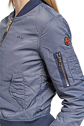 Schott NYC Jktac Men's Jacket Gris - Grey - gris stell grey