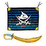 Spiegelburg Capt`n Sharky 2er Set 13447 12924 Piratenflagge Säbel